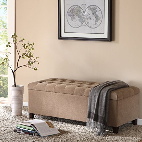 Madison Park FPF18-0142 Shandra Bench Storage Ottoman by Madison Park