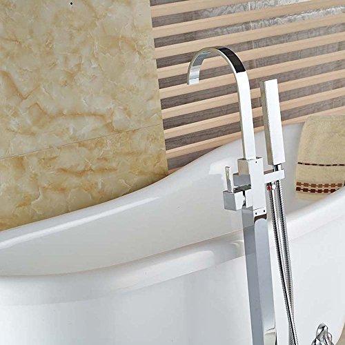 On Sale Votamuta Chrome Floor Mounted Clawfoot Bath Tub