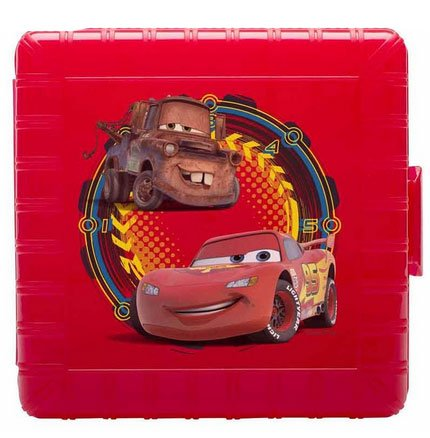 Disney Pixar Cars Lightning McQueen & Mater Kids Lunch Container Gopak Plastic Lunch Container with Sandwich & Snack Compartments