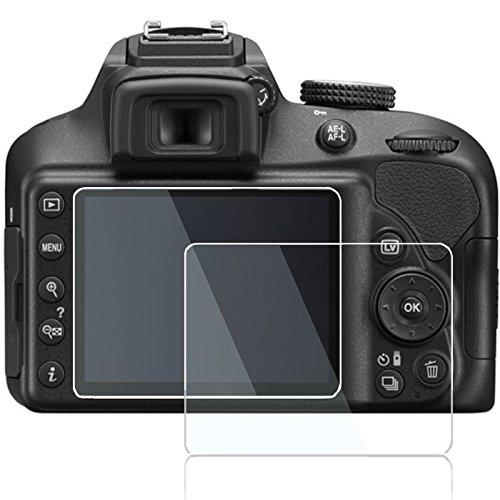 Screen Protector for Nikon D3500 D3400 D3300 D3200 Canon SX500 SX510 SX530,debous Edge to Edge Tempered Glass Hard Protective for Canon SX500 SX510 SX530 Nikon D3500 D3400 D3300 D3200 Camera (2pcs)