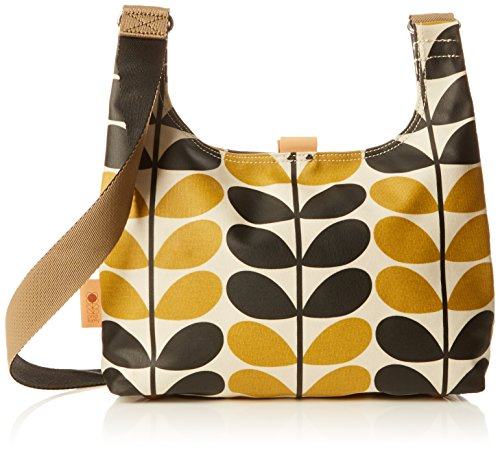 Orla Kiely Stem Check Print Mini Sling Bag, Dandelion by Orla Kiely
