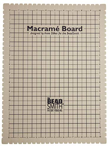 Beadaholique MWB20 Macrame Board, Brown