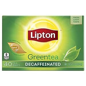 Lipton Green Tea, Decaffeinated 40 ct (Pack of 6)