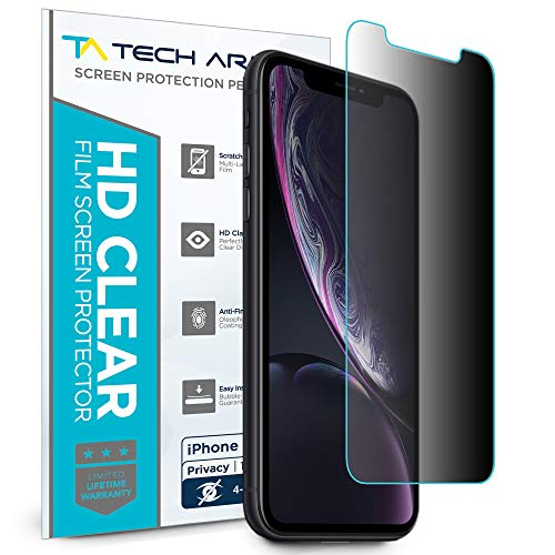 Tech Armor 4Way 360 Degree Privacy Film Screen Protector for Apple iPhone Xr [1-Pack] Case-Friendly, Scratch Resistant, 3D Touch Accurate Designed 2018 Apple iPhone Xr