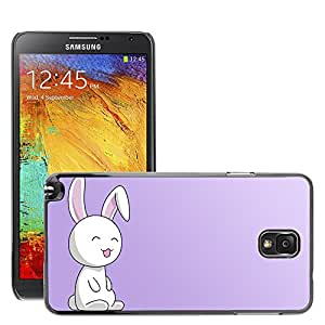 Super Stellar Slim PC Hard Case Cover Skin Armor Shell Protection // M00051647 vector art aero bunny // Samsung Galaxy NOTE 3