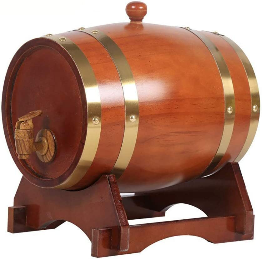 Barricas De Roble para Barriles De Whisky O Vino De Roble, 1,5 L Barriles De Madera Viejos Robusto Durable Y Acero Adecuados para Su Uso En Exteriores E Interiores,5
