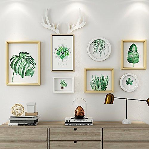 Das Wohnzimmer dekorativen Wandmalereien im Restaurant ist eine Kombination aus 6 Box + Hirschkopf Uhren Weiß original Mash-ups
