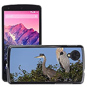 Hot Style Cell Phone PC Hard Case Cover // M00046899 rookery blue animals herons florida // LG NEXUS 5