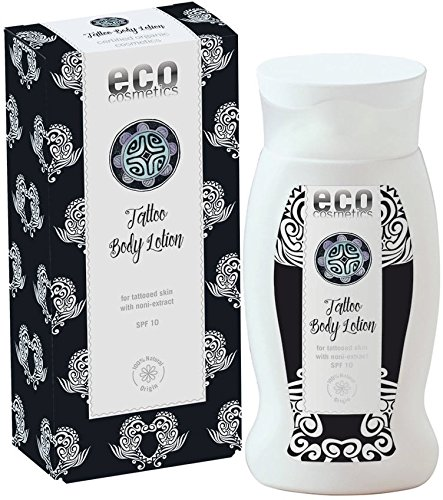 ECO COSMETICS - Natural Tattoo Body Lotion - With SPF 10 - Promotes healing - Moisturises - Skin-soothing & anti-inflammatory - Natural, Vegan and Cruelty Free - 200 ml Yumi Bio Shop