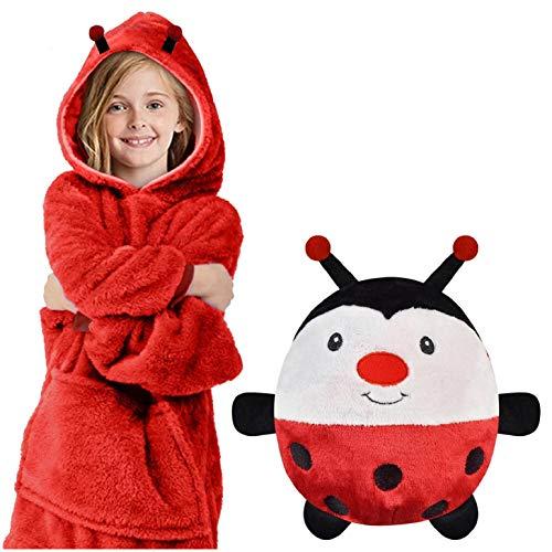 heekpek Kinderen Meisje Jongens Hoodie Deken Pluizige Sweatshirt Pocket Oversized Deken Hoodie Pyjama Fleece Snuggle…