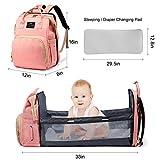 3 in 1 Diaper Bag Backpack Travel Bassinet Portable