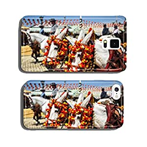 White horses at the Fair of Seville, Andalusia, Spain cell phone cover case iPhone5