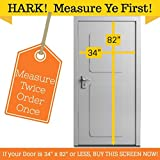 "Magnetic Screen Door, Full Frame Seal. Fits Door Openings up to 34""x82"" MAX"