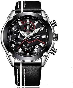 لايج ساعة رجالية أنالوج بعقارب جلد لون أسود - LG9869C