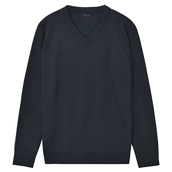 vidaXL Jersey de hombre cuello pico azul marino/gris/negro/beige M-XL CJDIe