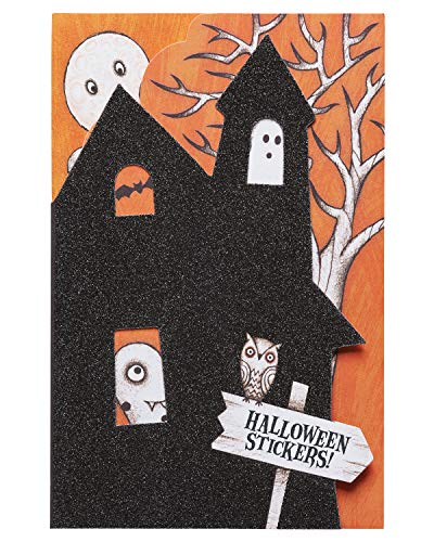 American Greetings Haunted House Halloween Card with Stickers (6130255) -