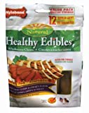 Nylabone Healthy Edibles Chicken and Roast Beef with Vitamins Dog Chew Variety Pack, Regular, 12-Count Pouch, My Pet Supplies