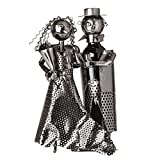 """BRUBAKER Wine Bottle Holder Statue """"Bridal Couple Bride And Groom"""" Sculptures and Figurines Decor & Vintage Wine Racks and Stands Gifts Decoration Review"""