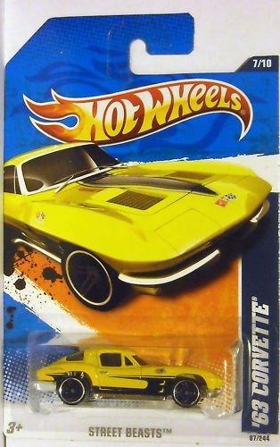 Hot Wheels /'63 Corvette Street Beasts Yellow