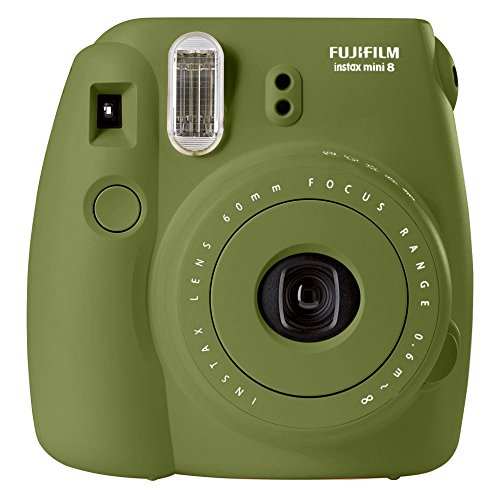 Fujifilm instax mini 8 Instant Film Camera (AVOCADO) – International No Warranty