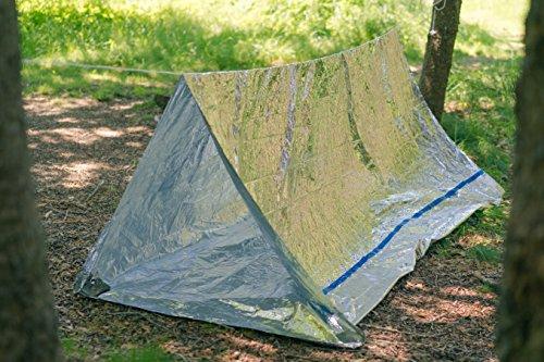 BlizeTec Emergency Bivy Sack Mylar Thermal Survival Blanket and Tube Tent ... & BlizeTec Emergency Bivy Sack Mylar Thermal Survival Blanket and ...