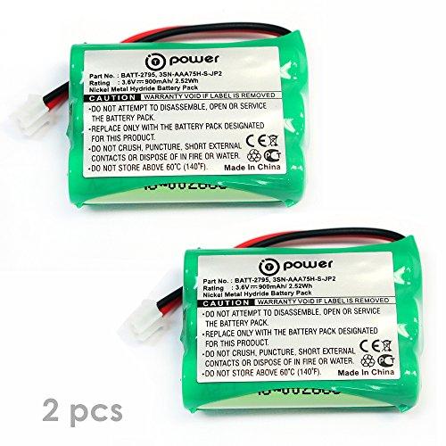 (2 x Pack) T-Power ( TM ) Motorola MBP18 MBP-18 MBP41 MBP41BU MBP41PU MBP43BU MBP43PU (MBP41 MBP41/2 MBP41/3 ) MBP43, MBP43/2, MBP43/3, MBP43/4 Replacement Rechargeable Battery (3.6V NIMH 900Mah)