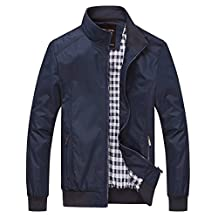 Nantersan Mens Casual Jacket Outdoor Lightweight Bomber Jackets Windbreakers