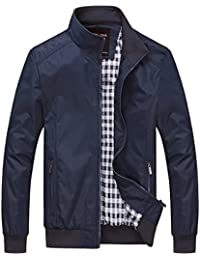Mens Casual Jacket Outdoor Sportswear Windbreaker Lightweight Bomber Jackets and Coats