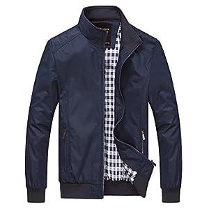 Nantersan Mens Casual Jacket Outdoor Sportswear Windbreaker Lightweight Bomber Jackets and Coats 27