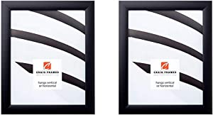 Craig Frames 1WB3BK 16 by 24-Inch Picture Frame, Smooth Wrap Finish, 1-Inch Wide, Black & 1WB3BK 24 by 36-Inch Picture Frame, Smooth Wrap Finish, 1-Inch Wide, Black
