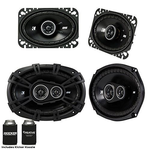 KICKER for Late 90s Early 2000s GM Coupes & Sedans. A Pair of 43DSC4604 4x6 Speakers & a Pair of 43DSC69304 6x9 s