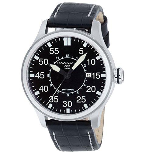 Torgoen Swiss Men's T34101 Pilot Watch