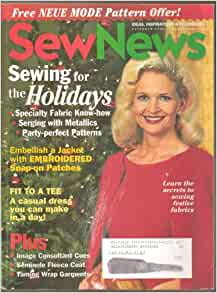 Sew News Magazine (Ideas Inspirations and Techniques ...