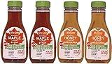 All-u-Lose Natural Rare Sugar Sweeteners, Non-GMO Allulose - Mixed 4 Pack - 2 ea. Maple & 2 ea. Honey