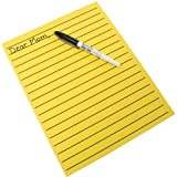 Yellow Bold Line Writing Paper 8.5 x 11 inches by MAGNIFYING AIDS
