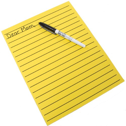 Yellow Bold Line Writing Paper 8.5 x 11 inches by MAGNIFYING AIDS by MAGNIFYING AIDS