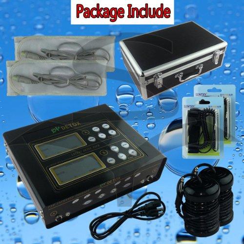 (EHM Dual Ionic Foot Detox Spa Bath LCD Machine & Fir Belts 5 Modes Ion Cleanse)