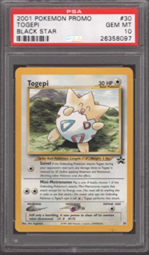 Togepi #30 Pokemon Promo Rare 2001 Black Star PSA 10 GEM MINT POP 19 Photo - Pokemon Gaming