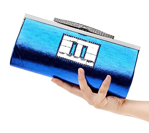 Wedding Evening Party Clubs Ladies Bridal Shoulder Envelope Bag Bag Glitter Gift Women Clutch Blue Sequin Handbag Diamante For Purse Prom B6W6OTn7