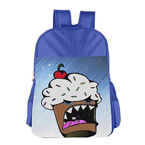 Ongshuquwe Cannibal Cupcake Leisure Children Cute Cartoon Schoolbag RoyalBlue