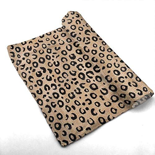 ewtretr Toallas De Mano,Black Ivory Animal Print Cool Towel Beach Towel Instant Gym Quick Dry Towel Microfibre Towel Cooling Sports Towel for Golf Swimming ...
