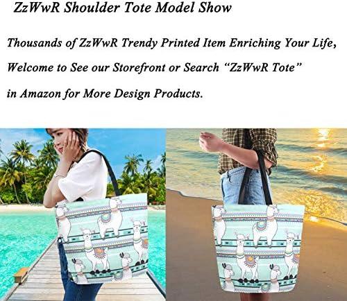 ファッション パターン プリント 特大 ショルダー トートバッグ ビーチ 旅行 ウィークエンダー ジム 食料品の買い物に 20x15