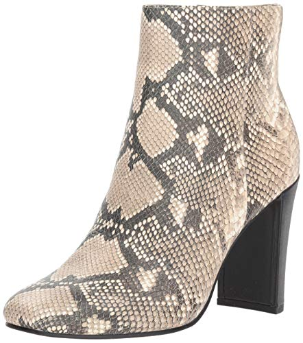 Dolce Vita Women's NILANI Ankle Boot, Snake Print Embossed Leather, 8.5 M US