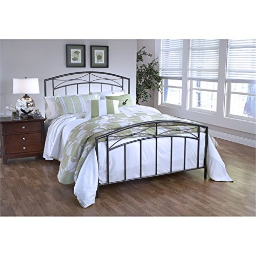 Hawthorne Collections Queen Metal Spindle Bed in Magnesium Pewter
