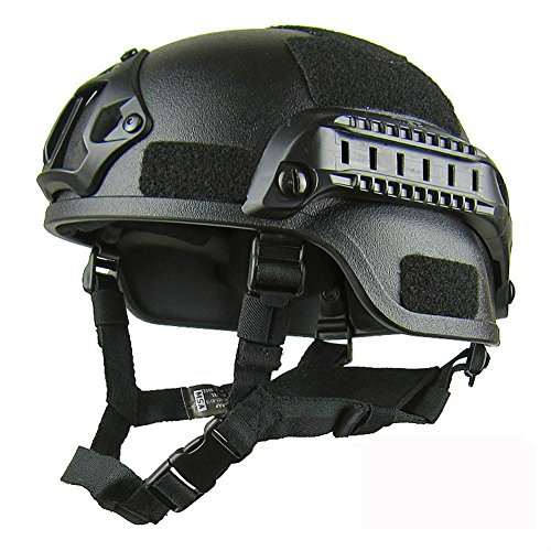 Military Tactical Helmet Cover Casco Airsoft Helmet Accessories Emerson Paintball Fast Jumping Protective Face Mask Helmet (Black)