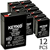 KEYKO Genuine KT-628 6V 2.8Ah Battery SLA Sealed Lead Acid / AGM Replacement - F1 Terminal - 12 Pack