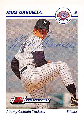 Mike Gardella Autographed Baseball Card New York Yankees Ft 1991