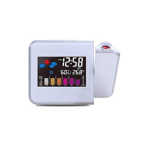 TiooDre Proyección Digital Relojes de Alarma, Relojes de ...