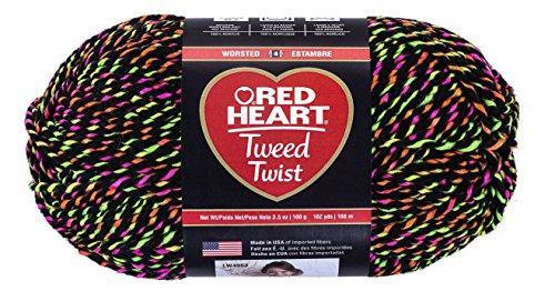 Red Heart Nylon Yarn - RED HEART  Tweed Twist Yarn, Neon Black