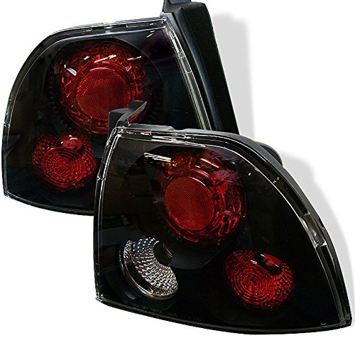 VIPMOTOZ For 1994-1995 Honda Accord Sedan Coupe Black Bezel Euro Style Altezza Tail Light Housing Lamp Assembly Replacement Driver and Passenger Side - Honda Accord 4dr Euro Tail